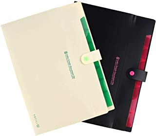 LBG Products A4 File Folders. Accordion Expanding Document Organizer with 8 Pockets. Cute Holders for Office, School Supplies(2 Pack)