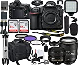 Nikon D850 DSLR Camera (1585) with 24-120mm & 50mm f/1.8G Lens Bundle + Prime Accessory Kit Including 128GB Memory, Light, Camera Case, Hand Grip & More