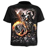 Camisa - Camiseta Steampunk - Camisa Calavera - Calavera - Motociclistas - gótico - 3D - Harley - Hombre - Hombre - Manga Corta - Mujer - Mujer - Regalo - Divertido - Talla m - c011