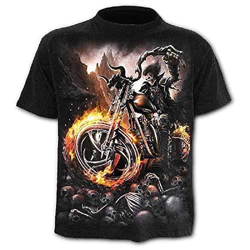 Camisa - Camiseta Steampunk - Camisa Calavera - Calavera - Moteros - gótico - 3D - Harley - Hombre - Hombre - Manga Corta - Mujer - Mujer - Regalo - Divertido - Talla XL - c011 - Idea de Regalo
