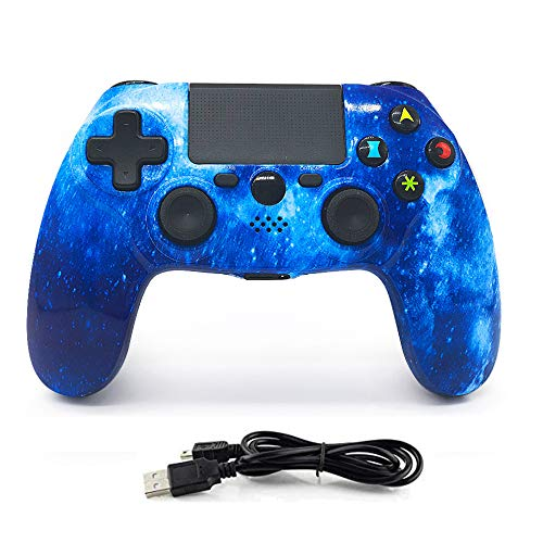 YYKJ PS4 Wireless Controller, Dual Vibration 6-axis Gyroscope, with Touch USB Cable, Handwriting Function, for PS4 / Pro/Slim/PC Gamepad Joystick Handle 2