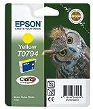 Epson C13T07944010 - Cartucho de tinta, amarillo válido para los modelos Stylus Photo, P50, PX650W, PX820FWD, PX830FWD, 1400, 1500W y otros, Ya disponible en Amazon Dash Replenishment