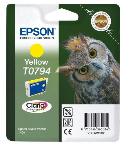 Epson T0794 Tintenpatrone Eule, Singlepack gelb