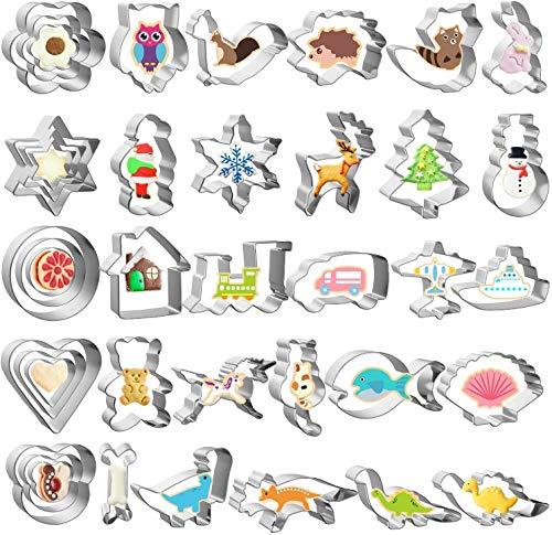 ccfgh Cortadores de la Galleta, 40 Piezas de cortadores de la Galleta de los niños for el Bricolaje Hornear el Pastel de Pasta de azúcar de repostería for Hornear Decoración