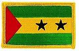 Patch Aufnäher bestickt Flagge Sao Tome & Prinzip zum Aufbügeln insignen Wappen