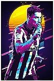 ZRRTTG PóSter Y Estampados Jugador de fútbol, Luis Suarez por Living Room Decor Lienzo Pintura Pared Arte Cuadros 19.7'x27.6'(50x70cm) Sin Marco