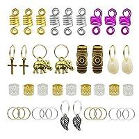 120pcs Dredlock Beads Accessories, Grosun Hair Charms Pendants Hair Rings Braid Cuffs Braid Hair Accessories Braid for Hair 商品カテゴリー: ヘアアクセサリー [並行輸入品]