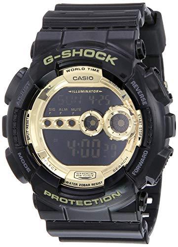 Casio G-Shock Digital Gold Dial Men's Watch - GD-100GB-1DR (G340)