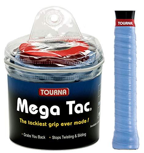 Tourna Mega Tac Extra Tacky Overgrip, Blue (30-Pack)