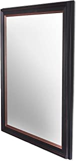 Art Street Modern Warnish Wall Decorative Mirror Black Color Inner Size 12 x 18 inch, Outer Size 15 x 21 inch
