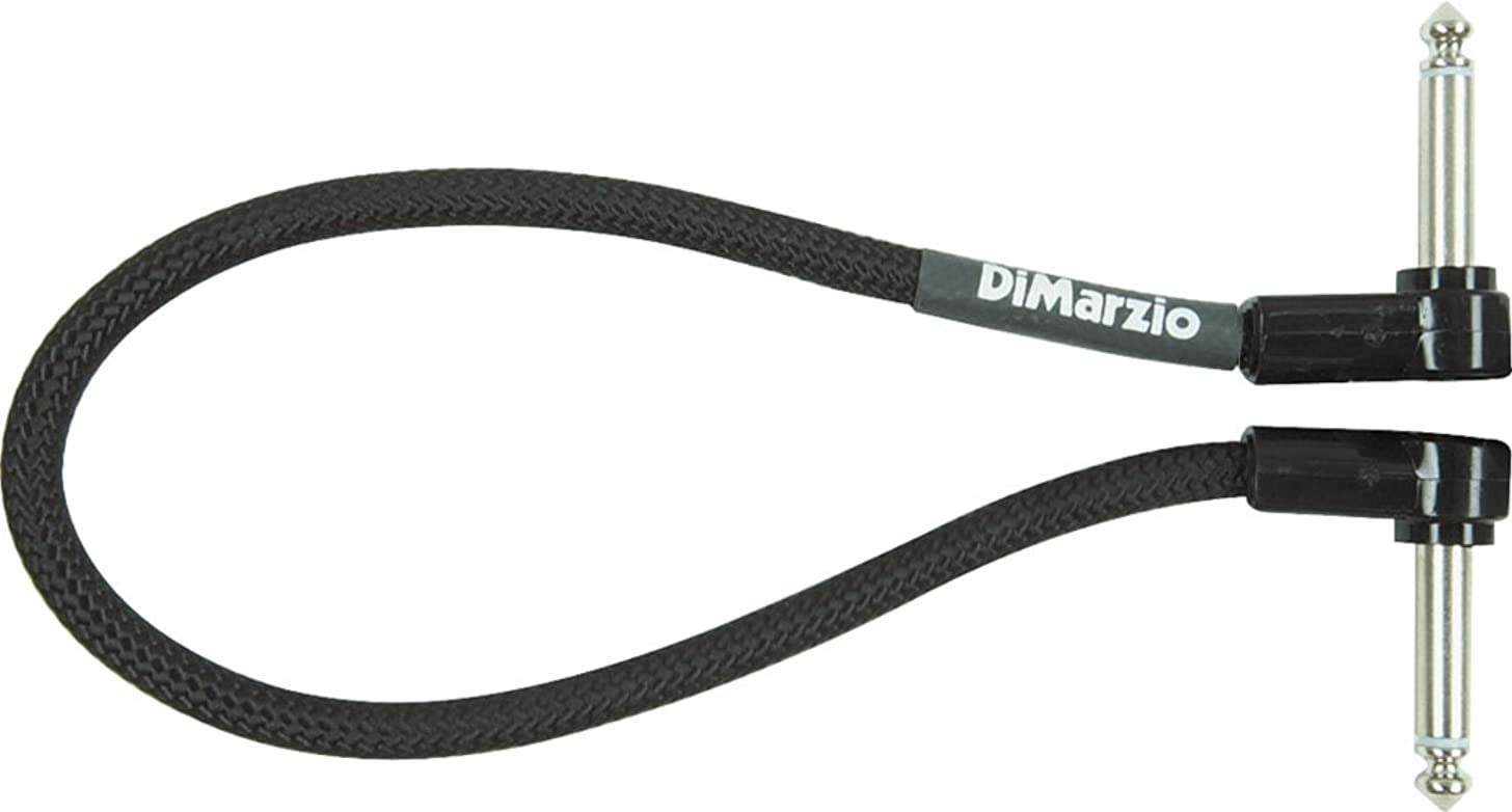 DiMarzio Long Jumper Cable Pedal Coupler with Angled End Black 18 In