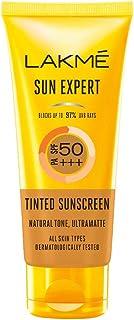 Lakme Sun Expert Tinted Sunscreen 50 SPF PA+++, Natural Tone, With Cucumber, Lightweight, Ultra Matte Finish, Blocks Upto ...