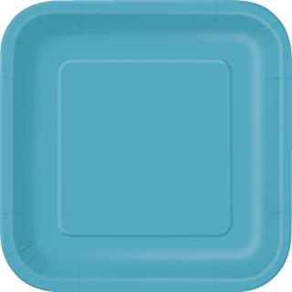 Best teal square plates Reviews