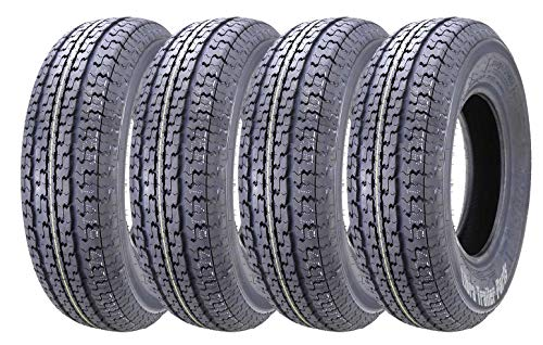 Set of 4 New Premium WINDA Trailer Tires ST 225/75R15 10PR Load Range E w/Featured Side...