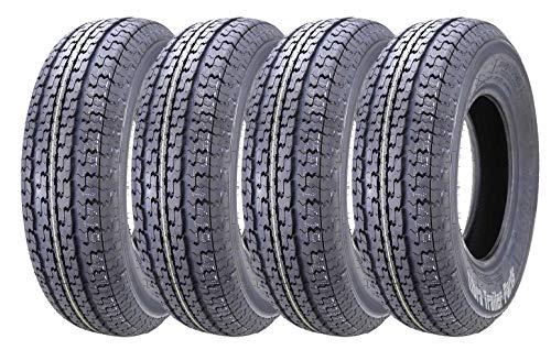 Set of 4 New Premium WINDA Trailer Tires ST 225/75R15 10PR Load Range E w/Featured Side Scuff Guard