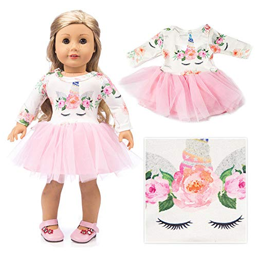 American Girls Doll Unicorn Clothes Outfit Pajamas 18 Inch Unicorn American Girls Doll Clothes and Accessories for 18 American Girls Dolls Clothes ,My Life Girls Doll Clothes Baby Journey Accessories