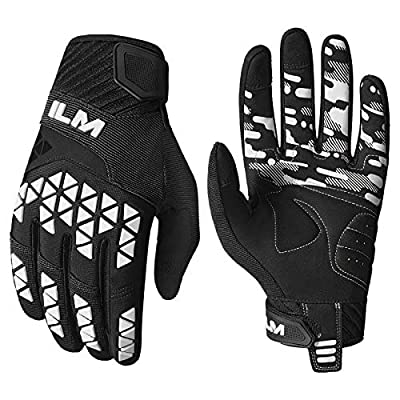 ILM Dirt Bike Motorcycle Gloves Unisex Adult Fit for BMX MX ATV MTB Racing Mountain Bike Motocross Outdoor Sports