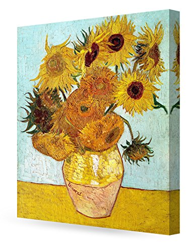 DECORARTS - Twelve Sunflowers, Vincent Van Gogh Art Reproduction. Giclee Canvas Prints Wall Art for Home Decor 30x24 x1.5 24 X 30 Giclee Canvas