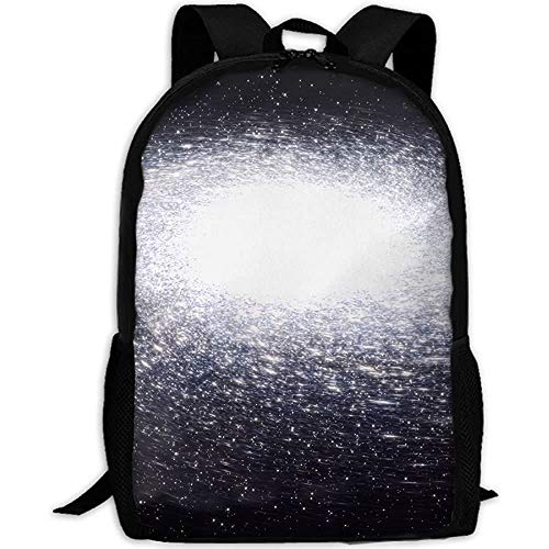 White Spiral Galaxy Rotates Adult Travel Backpack School Casual Daypack Oxford Outdoor Laptop Bag College