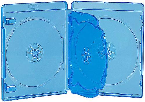 PEARL Blu-ray Cases: Blu-ray Soft-Hüllen blau-transparent im 10er-Pack für je 4 Discs (Bluray Hüllen)