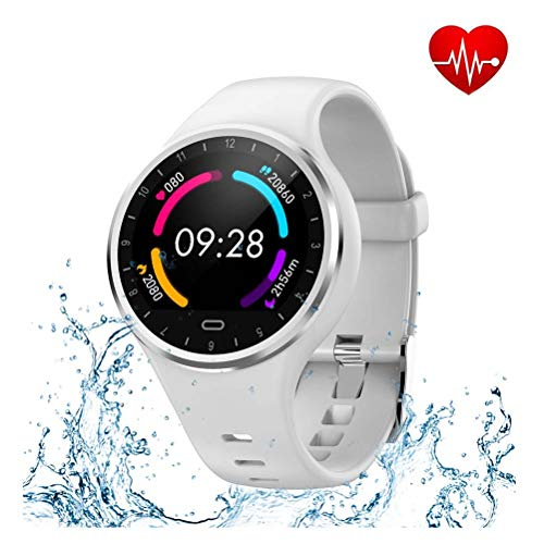 YC Smart Watch, IP67 Waterproof Activity Tracker con cardiofrequenzimetro, Orologio da Polso con contapassi, contacalorie per Bambini Donna Uomo,D