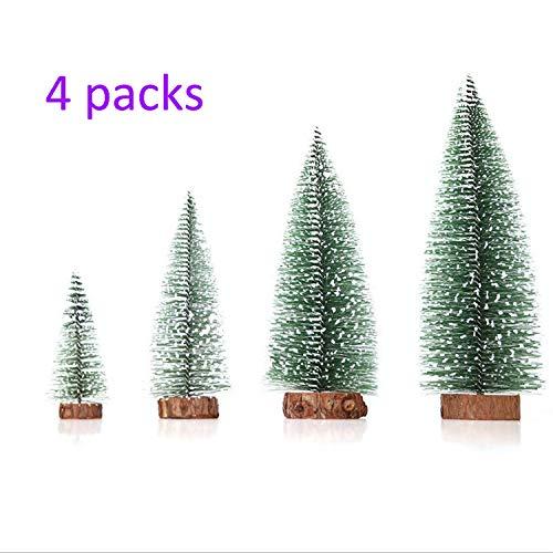Nerioya 4 Packs Mini Ceder Desktop Kleine Kerstboom 1 Meter Lantaarn Kerstbomen Decoreren voor Kerstmis Boom Thuis Bruiloft Feest