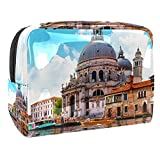 Mini Bolso del Maquillaje de Las Mujeres, Prenda Impermeable del Neceser del Viaje del Almacenamiento El Gran Canal en Venecia para Viajes, Organizadora de cosméticos