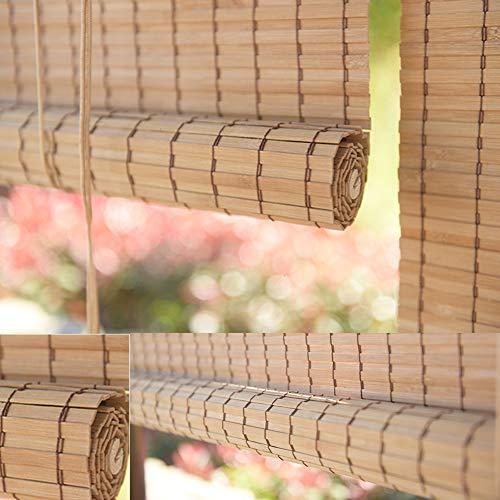 QL Persianas enrollables de bambú Persianas enrollables de bambú con Cortinas Elevadoras Accesorios para Cortinas Impermeable Anti-Moho para Interiores y Exteriores, Personalizables