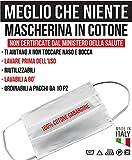 TIPOGRAFIA CASTRIGNANÒ MASCHERINE in Tessuto di Cotone 100% Lavabili E RIUTILIZZABILI… (10)
