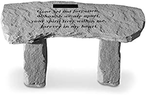 Gone Yet Not Forgotten. Personalized Memorial Bench