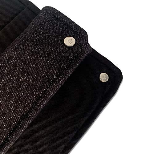 - Atmungsaktive Bandagierunterlagen 'Glitterlicious' 2er (Pony) m. elastischem Glitzer-Stoff in Grau   Einfach zu bandagieren u. kein Scheuern am Pferdebein