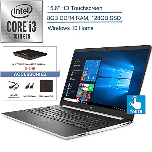 Big Save! 2020 HP 15.6 Touchscreen Laptop Computer/ 10th Gen Intel Core i3 1005G1 Up to 3.4GHz (Bea...