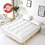 Vonabem Queen Mattress Topper Extra Thick Mattress Pad Cooling Cotton Mattress Cover Pillow Top Mattress Protector Hotel Quailty Quilted Toppers for Queen Bed with 8-21 Inch Deep Pocket