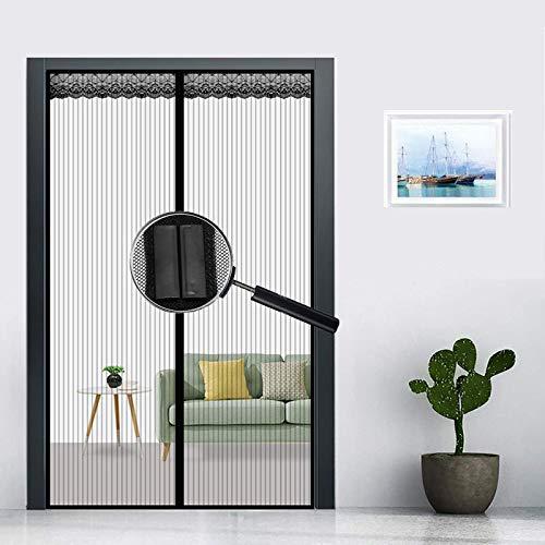 P0ENGXIN Mosquitera Magnética, Versión Mejorada en 2021 Cortina Mosquitera Magnética Puertas Cierra Automáticamente, Fácil de Instalar Adecuado para Todas Puertas y Ventanas