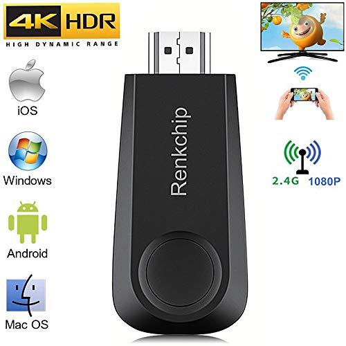 WLAN-Display-Dongle, kabelloser Display-Dongle, HDMI-Adapter 1080p, Airplay-Dongle-Spiegelungsbildschirm vom Telefon Auf den Großen Bildschirm,Unterstützt Miracast Airplay DLNA