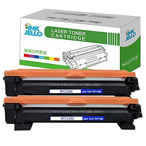 ECSC Compatibile Toner Cartuccia Sostituzione per Brother DCP-1510 1512 1610W 1612W HL-1110 1112 1210W 1212W MFC-1810 1910 1910W TN1050 (Nero, 2-Pack)