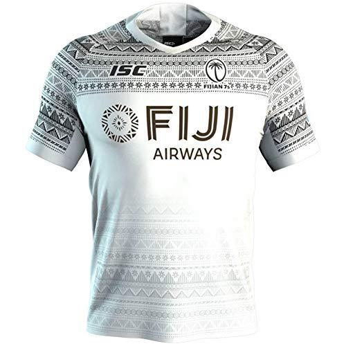 Herren Rugby-Trikot, 2020, Fiji, Rugby-Trikot, Sevens, Rugby-Trikot, Hauptgäste, Sportbekleidung, Fitnessstudio, bequeme Weste, T-Shirt (S-5XL) Gr. S, a