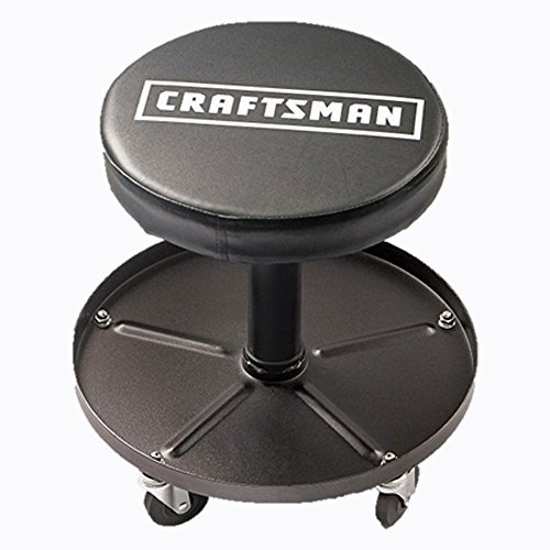 Craftsman Adjustable Pneumatic Mechanics Swivel Seat (Black)