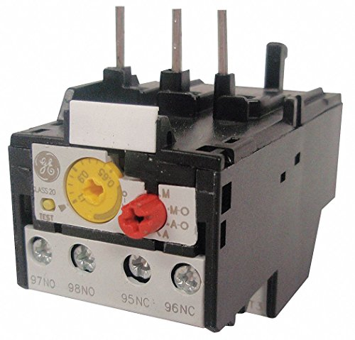 GE IEC Style Overload Relay, 17.5 to 22.0A, 3 Poles, Auto, Manual Reset, Trip Class: 20