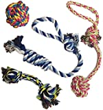 set of four rope toys for dogs