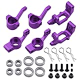 steering knuckle tornado epx - Hobbypark 102010 102011 102012 Aluminum Steering Knuckle Kit Hub Carrier Mount Set Upgrade Parts for RC Redcat Volcano EPX Monster Truck HSP