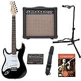 Rocktile Pro ST3-BK Linkshänder E-Gitarren Set