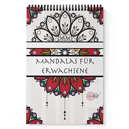 Mandalas Für Erwachsene - Malbuch Zum Ausmalen Und Entspannen: 40 Wundervolle Mandalas, 8 Spezialbilder – Spiralbindung Oberhalb – 50 Weitere Malvorlagen – Dickes Papier - Mandala Colorkaft