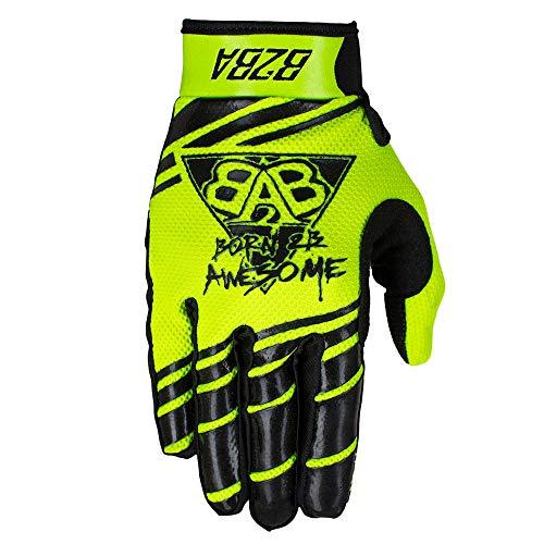 B2BA Clothing RACEWEAR leichte Handschuhe Mountain Bike Downhill Enduro Motocross Freeride DH MX MTB BMX Quad Cross, schnelltrocknend, rutschfest und atmungsaktiv, 2020 Neon Gelb Schwarz, Größe L