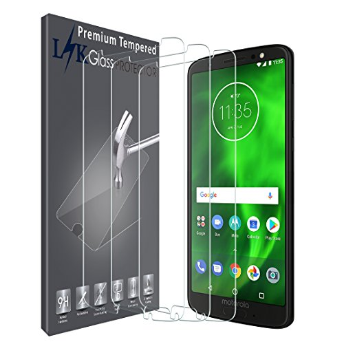 [3 Pack] LK Screen Protector for Motorola Moto G6 [Japan Tempered Glass] 9H Hardnes, HD Clarity, Case Friendly