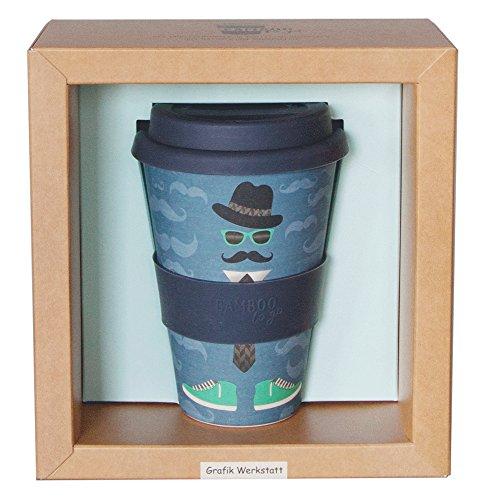 Vaso de bambú con tapa «Monsie» de diseño de taller de café,...