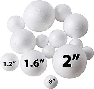240 Pack Styrofoam Balls -Craft Foam Balls -Foam Craft Balls -Foam Balls For Arts and Crafts, DIY Craft For Home, School Craft Project -240 Bulk Styrofoam Balls, 4 sizes .8'', 1.2'', 1.6'', 2'' Inches