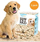Washable Pee Pads for Dogs (2 Pack) - Reusable Puppy Pads XL Size - Premium Waterproof Dog Training Potty Pads (Extra Large 36' x 30') - Superior Absorption Machine Washable