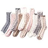 Calcetines cálidos de lana de cordero, 2/4/10 pares de calcetines de forro polar, gruesos, calcetines de lana para mujer, 2/4/10 pares