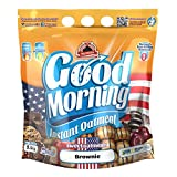 Max Protein - Good Morning Instant Oatmeal, Harina de avena, 1,5kg Brownie (Pack 2 ud.)